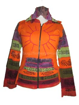 Funky over lock sleeved hippy  hoodie