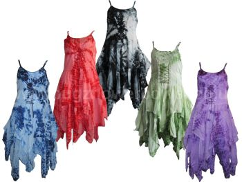 Stevie fae  tie dye waterfall corset dress