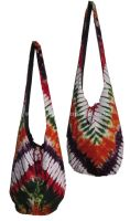 Funky tie dye hippy shoulder bag