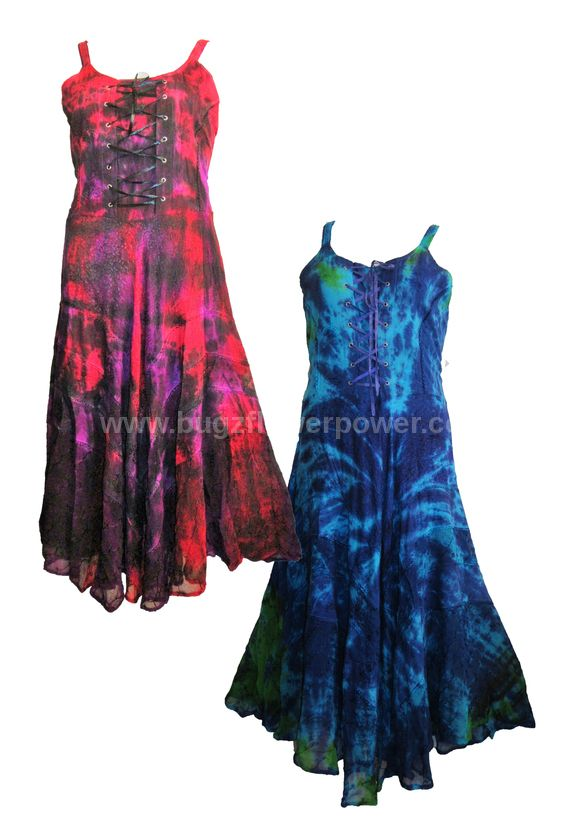 Eden tie dye corset dress