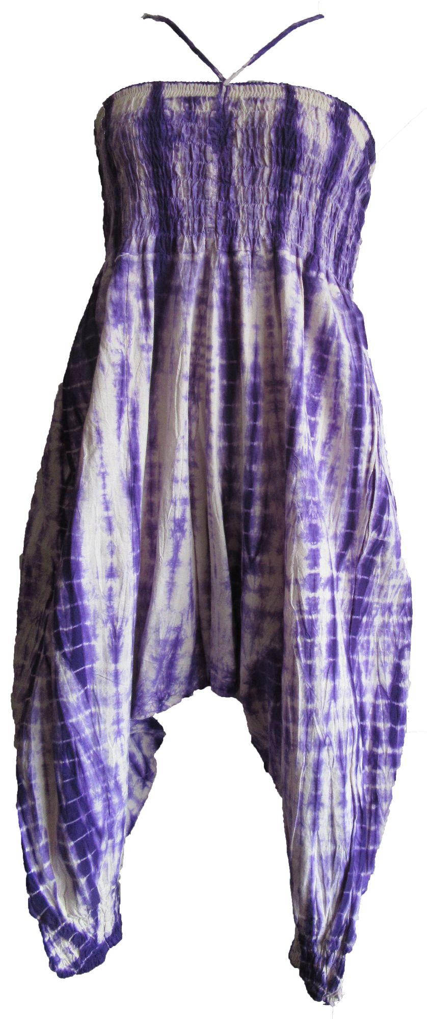 Gorgeous tie dye  harem trousers wear at the waist or over bust