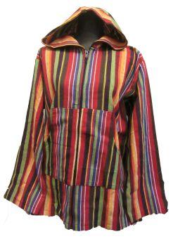 Funky hippy zip front hoodie
