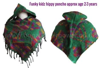 Funky kidz hippy pixie hood poncho approx 2-3 years