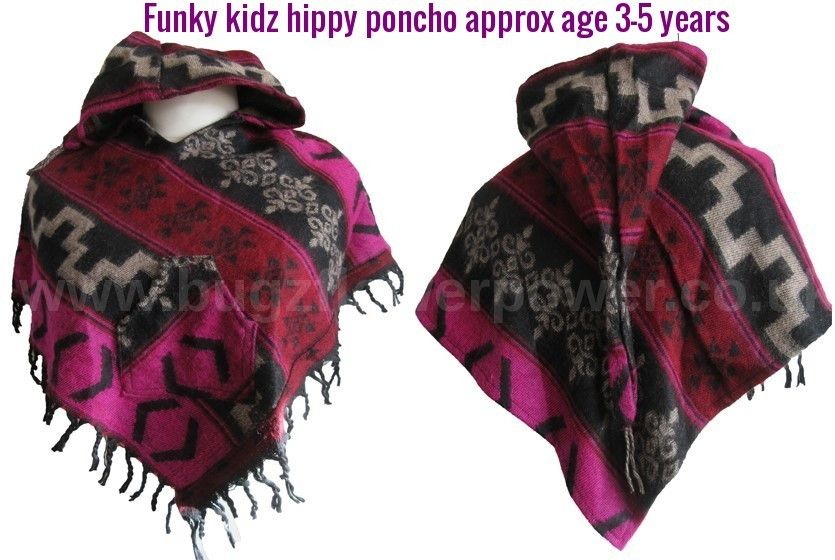 Funky kidz hippy pixie hood poncho approx 3-5 years