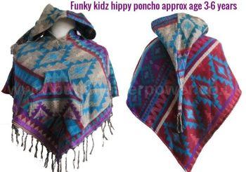 Funky kidz hippy pixie hood poncho approx 3-6 years