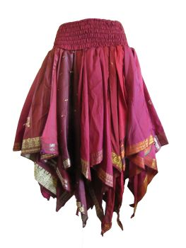 Gorgeous Romini fae, belly dance, hippy recycled silk skirt