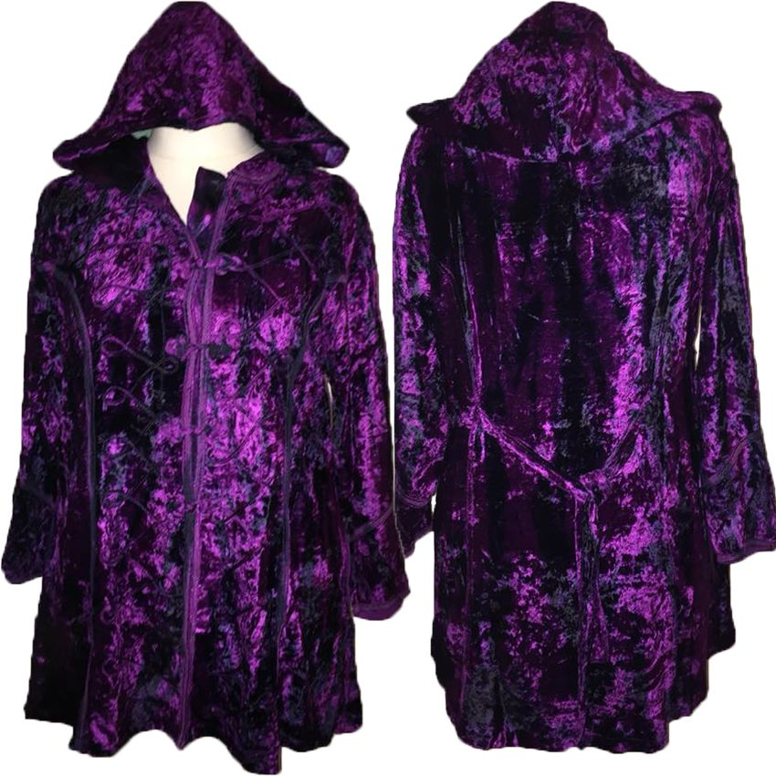 Bohemian tie dye velvety witchy jacket [approx 18-22]