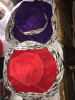 Bendable fancy dress festival  hats x 9