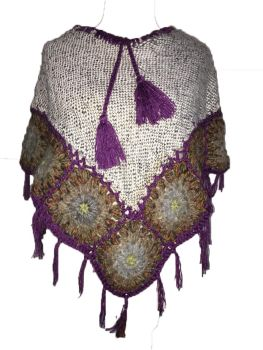 Pretty crochet poncho