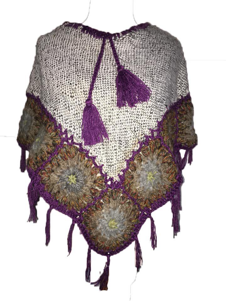 Pretty crochet poncho