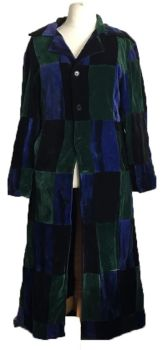 Velvety patchwork jacket