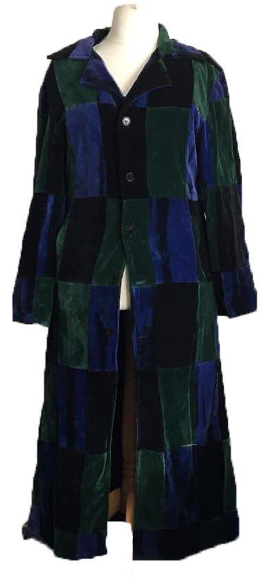Velvety patchwork jacket