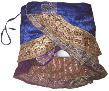 Mini sari wrap frill skirt , belly dance , festival