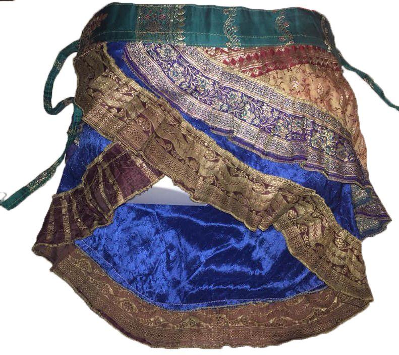 Mini sari wrap frill skirt , belly dance , festival