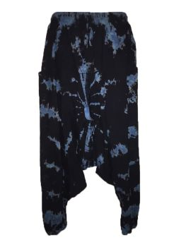 Hippy tie dye harem trousers