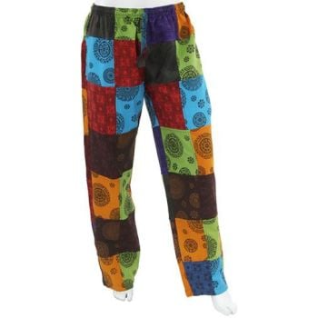 Heavy cotton hippy patchwork trousers