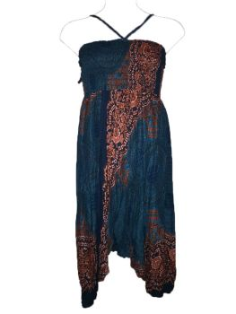 Pretty cotton harem trousers ,2 looks from one garment ! Will fit plus size