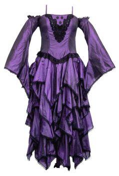 Dark faerie ,polysilk tiered dress