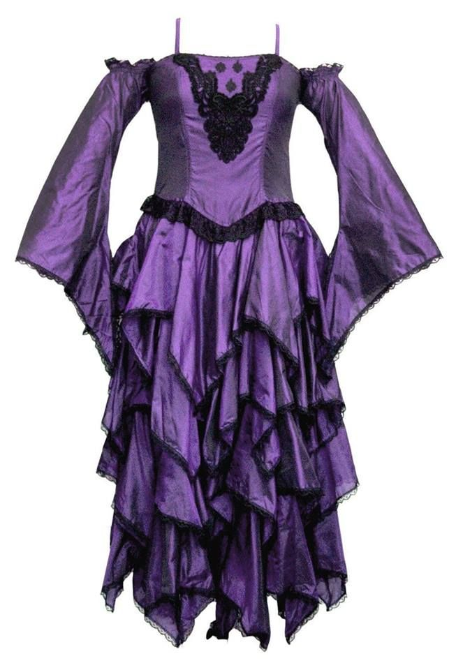 Dark faerie ,polysilk tiered dress
