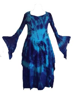 Gorgeous tie dye faerie skies dress