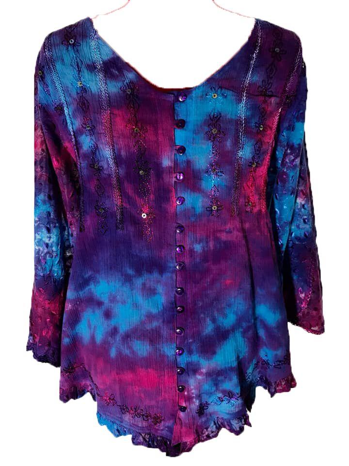 Stunning tie dye hippy  Eden top