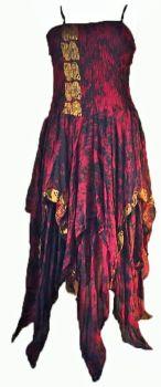 Beautiful silk gothy Tianna faerie dress plus size
