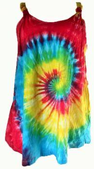 Funky tie dye rainbow festival top