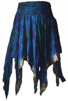 Rimini fae drip silk pixie skirt,- faerie , belly dance