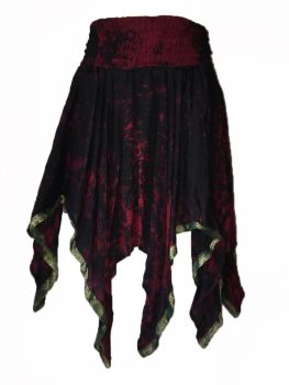 Rimini fae drip silk pixie skirt,gothic dark- faerie , belly dance