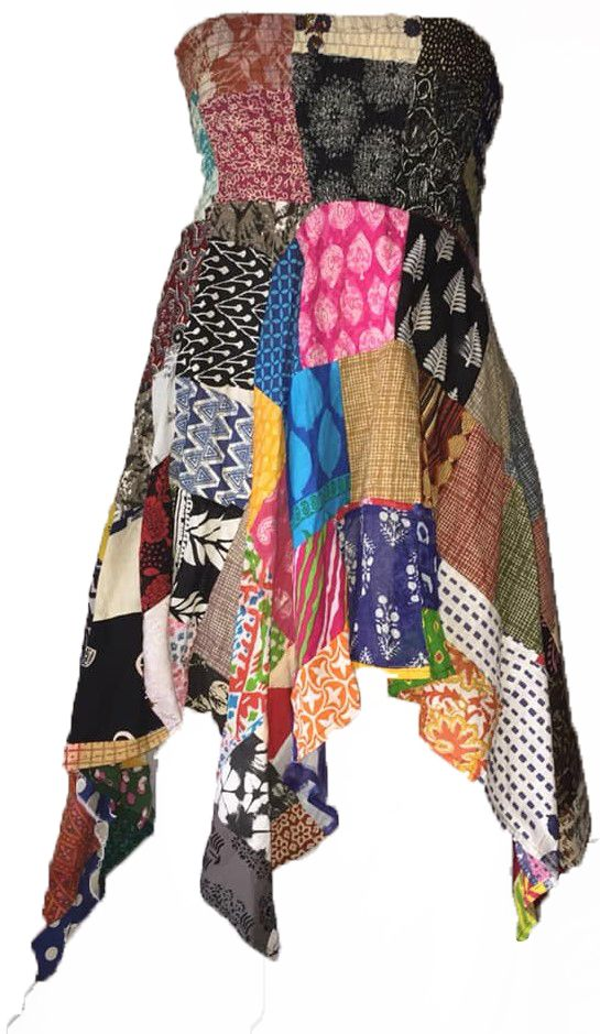 Pretty patchwork pixie dress or skirt