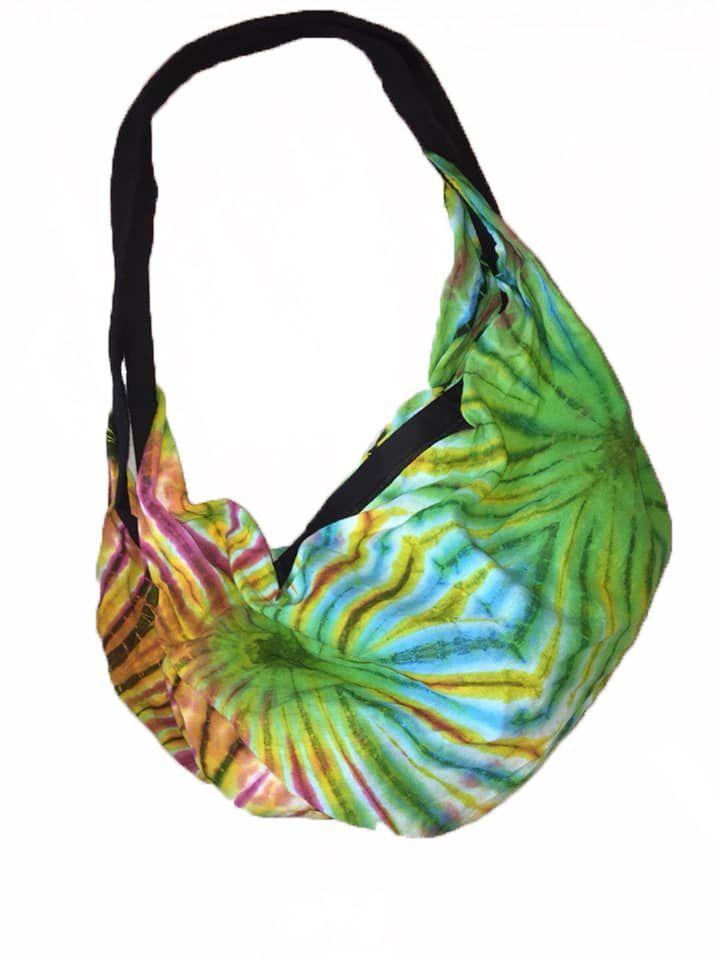 Large Yoga /festival / beach / Uni hippy tie dye  bag