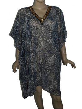 Gorgeous kaftan style boho cover up plus size top