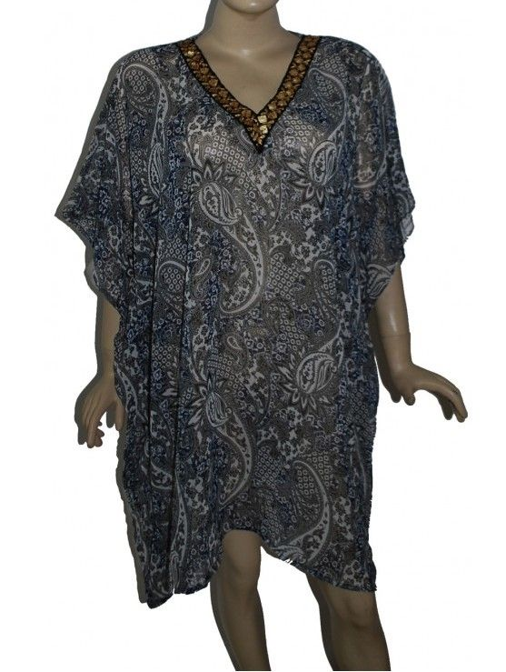 Gorgeous kaftan style hippy cover up plus size top