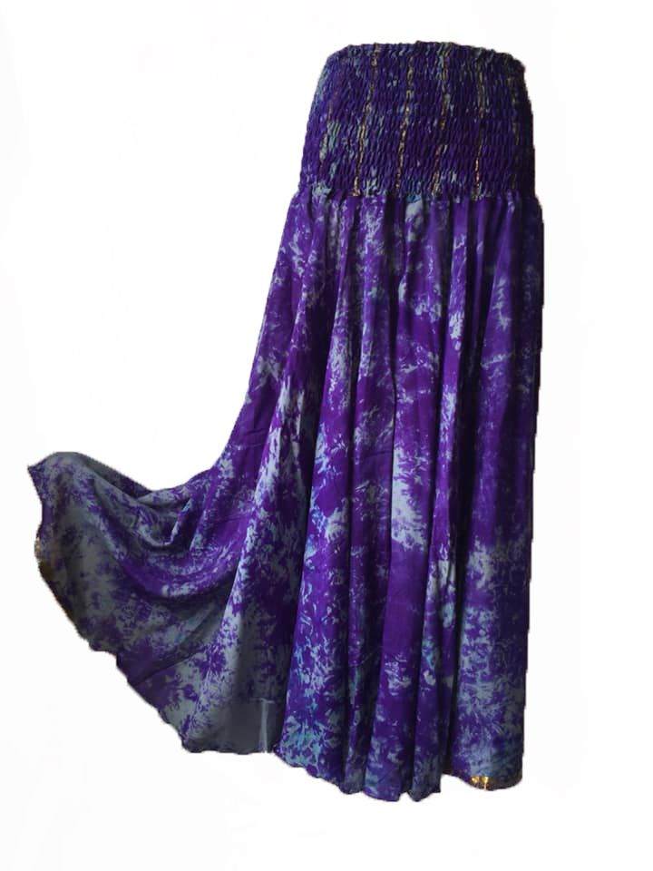 Amazing silk tie dyed palazzo trousers