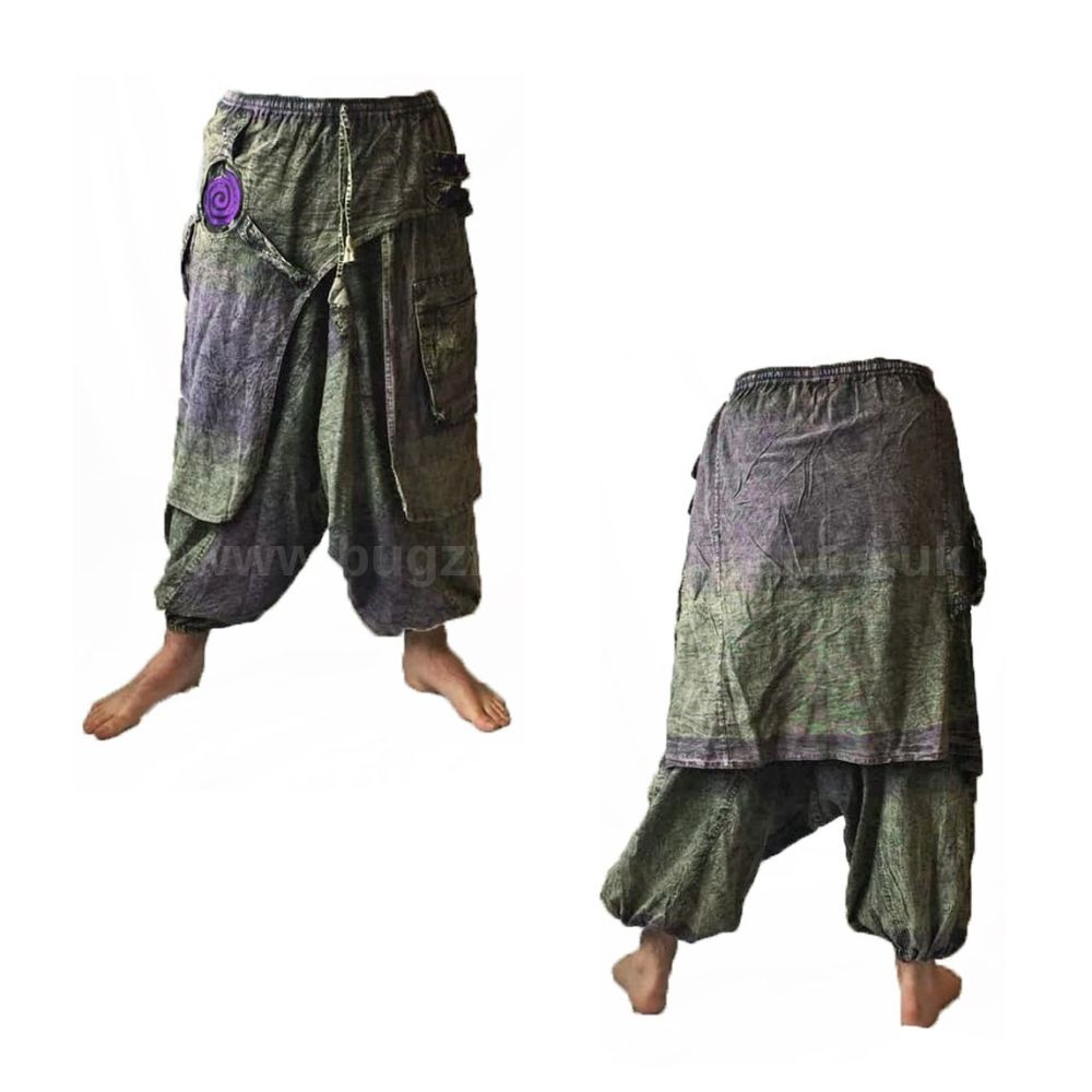 Unisex funky harem trousers