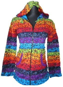 Funky bubbles rainbow hippy festival hoody