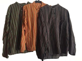 Wholesale lot of 20 hippy grandad shirts