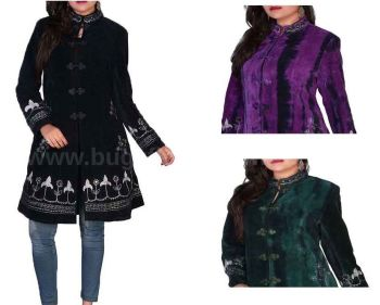 3/4 length velvety mrrored jacket
