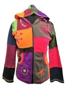 Funky patchwork hippy hoody