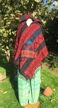 Snuggly pixie hooded poncho