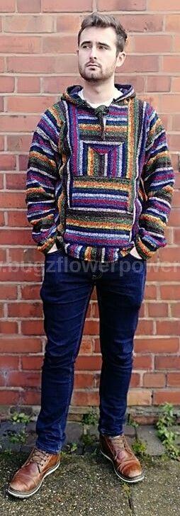 Mexican blue rainbow  snuggly warm jerga or baja