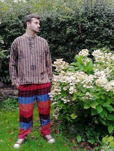 Multi stripe trousers