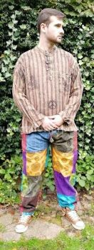 Funky patchwork hippy trousers