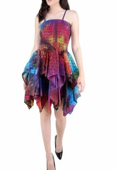 *Ella sparkly   mini tye dye frill dress