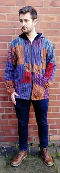 *Cotton patchwork fleece lined jacket