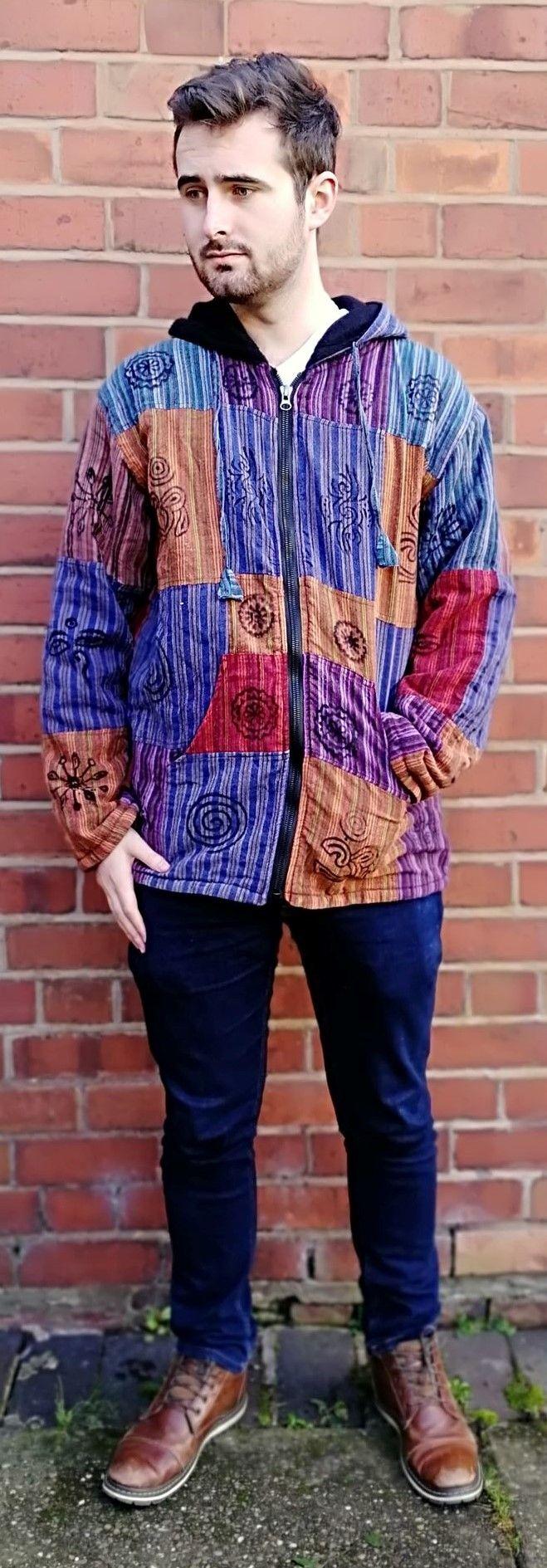 *Cotton patchwork fleece lined jacket
