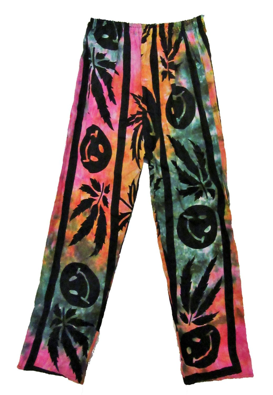 Leaf print  trousers