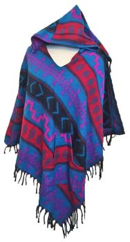 Snuggly warm cashmillon pixie hood poncho