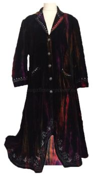 Gorgeous velvety tye dye embroidered steam punk ,hippy jacket