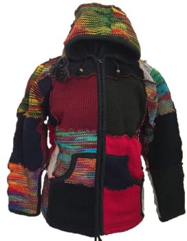 Fleece lined pixie hood  woolie jacket
